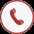 Ikon telefon rød