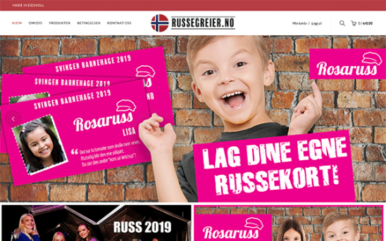 Webløsning for Russegreier.no