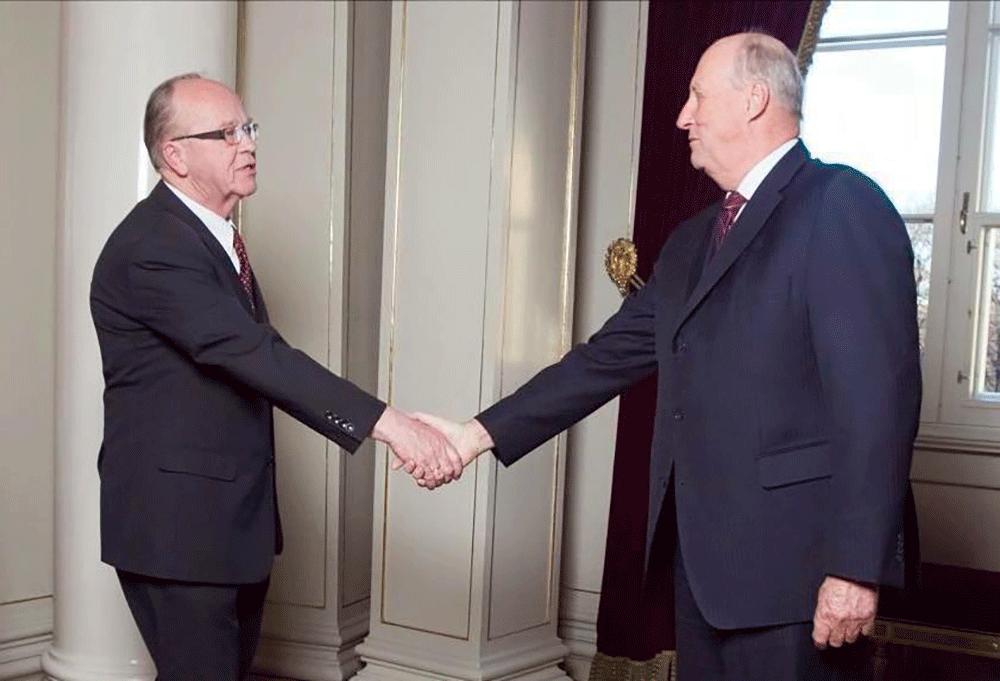 Ernst Granly møter Kong Olav