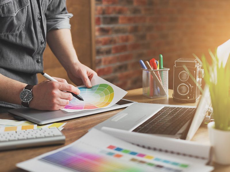 Illustrasjonsbilde grafiske tjenester
