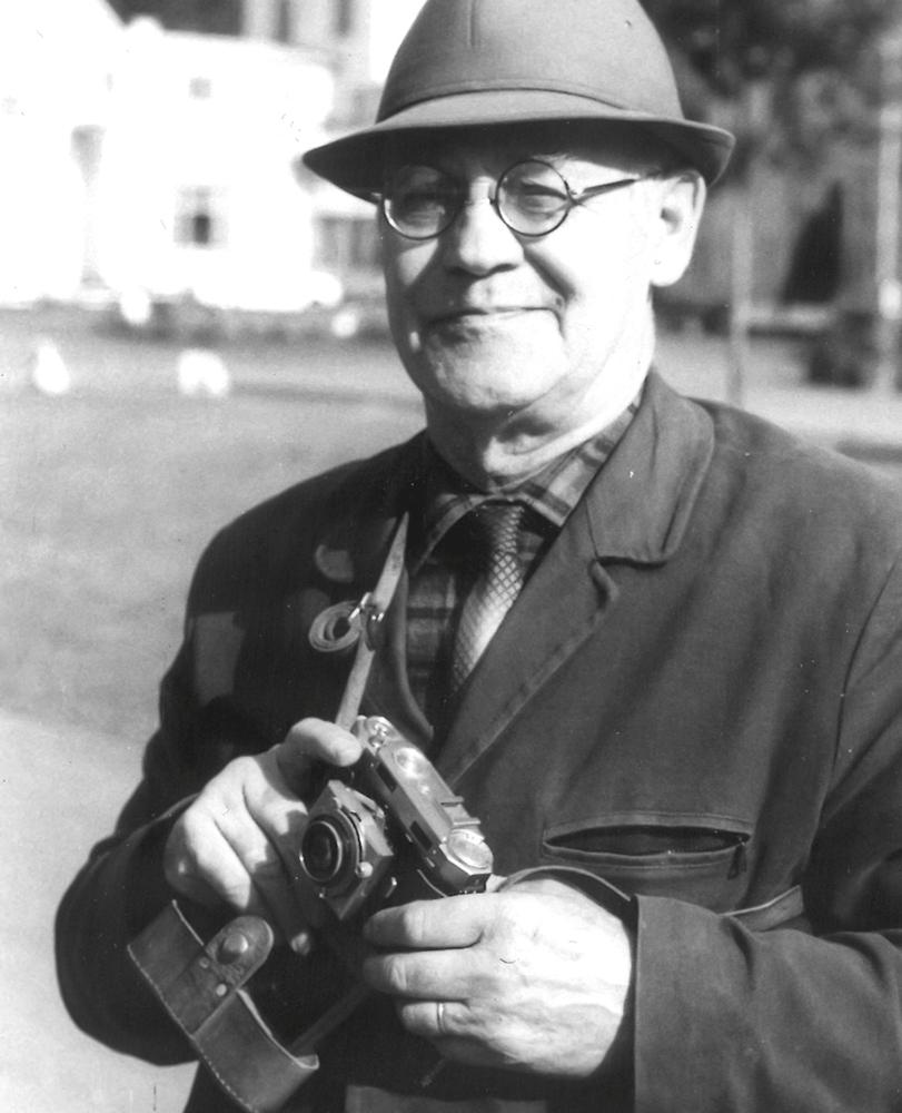 Johan Helmer Granly med kamera