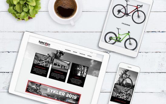 Illustrasjonbilde av nettside på skjerm, nettbrett og mobil
