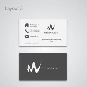 Visittkort 2-sidig med grå layout