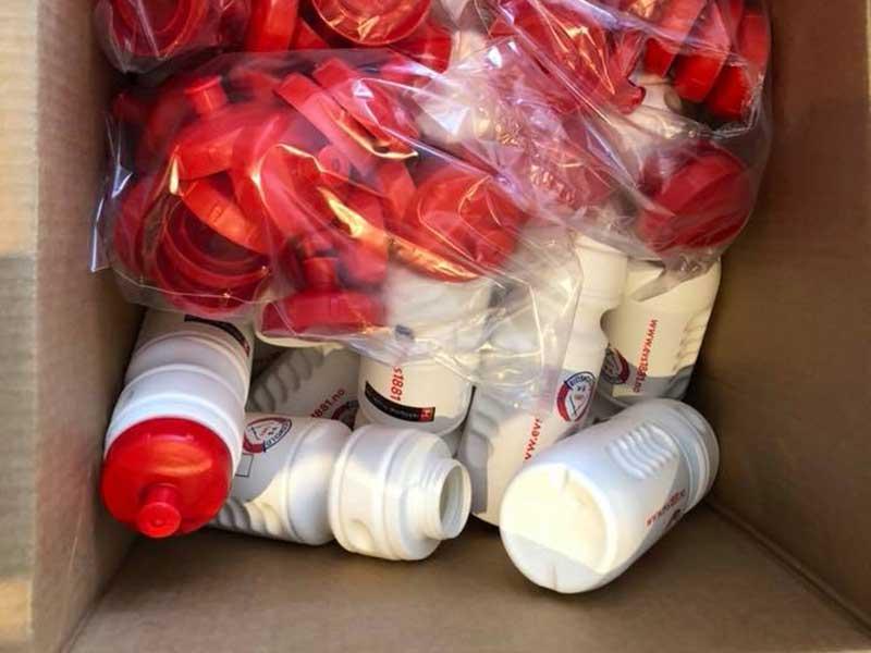 Drikkeflasker i stort antall