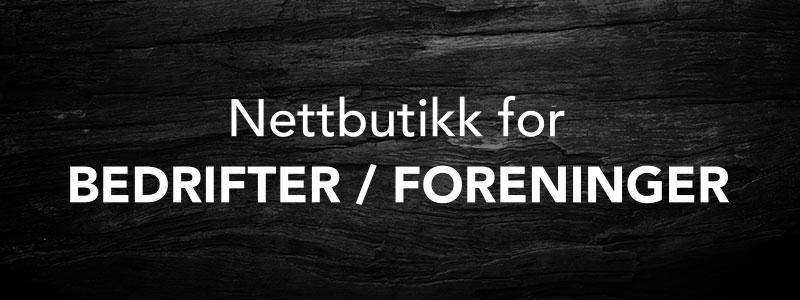Nettbutikk for bedrifter / foreninger
