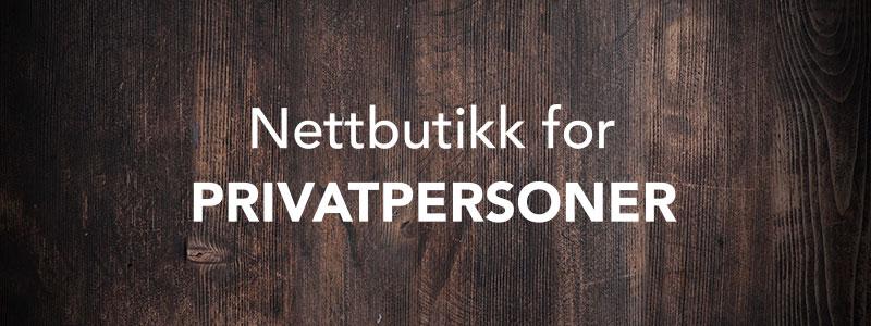Nettbutikk for privatpersoner