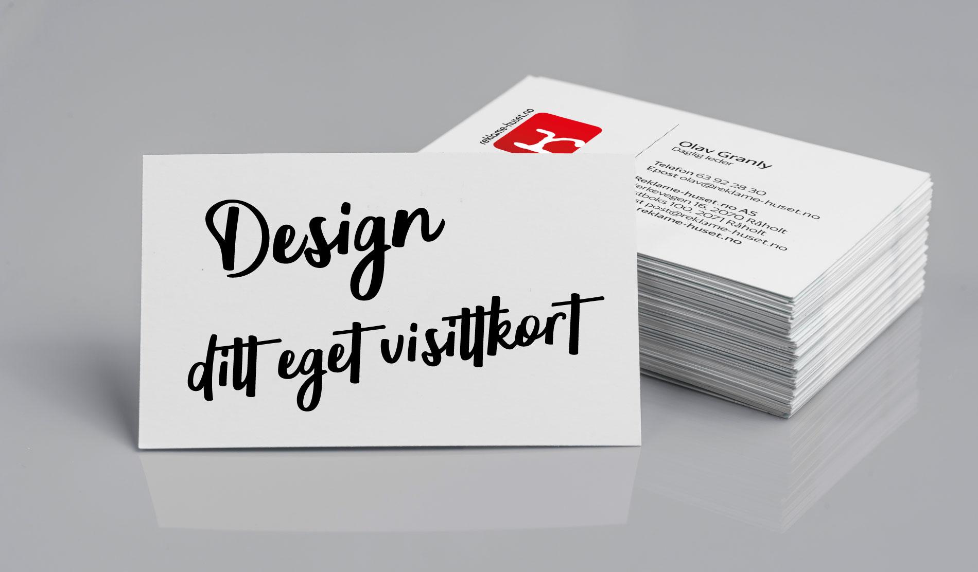 Design ditt eget visittkort